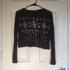 Long sleeve crop top (Size: S/P)